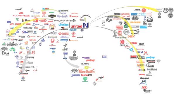 united N design branding map